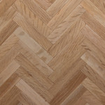 white oak herringbone parquet